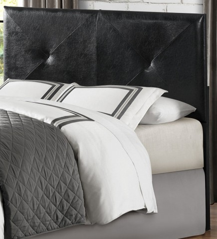 Potrero Black Vinyl Queen/Full Headboard