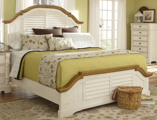 Oleta Buttermilk/Brown Queen Size Bed