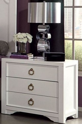 Furiani White Nightstand