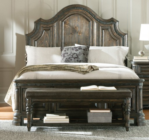 Carlsbad Dark Brown Cal. King Panel Bed