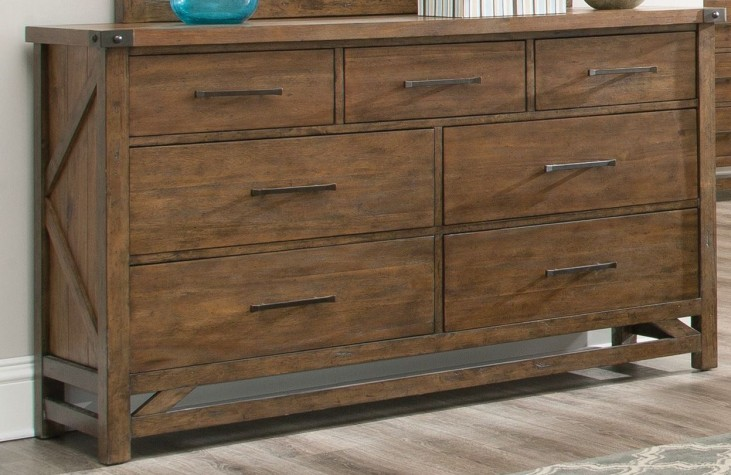 Bridgeport Weathered Acacia Dresser