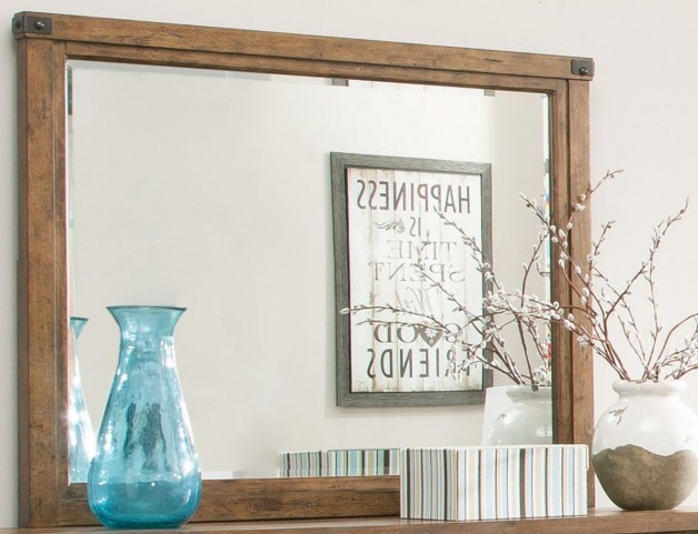 Bridgeport Weathered Acacia Mirror