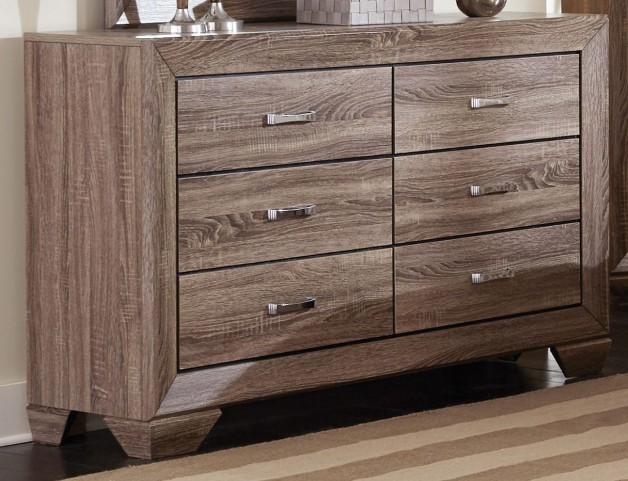Kauffman Washed Taupe Dresser