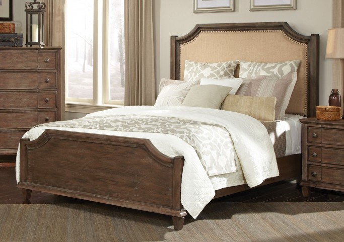 Dalgarno Mushroom Queen Panel Bed