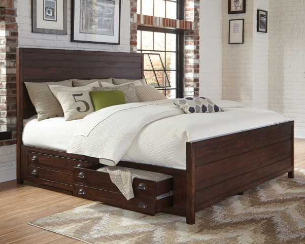 Lanchester Cocoa Queen Panel Storage Bed