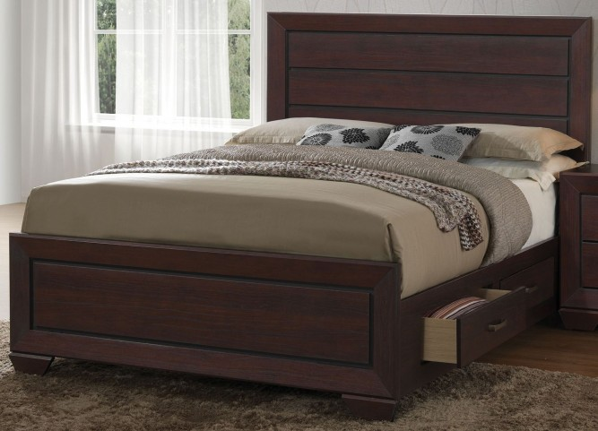 Fenbrook Dark Cocoa King Panel Bed
