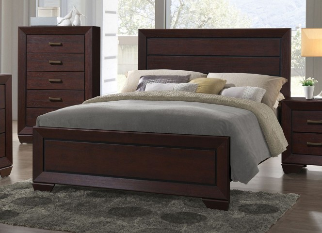Fenbrook Dark Cocoa Queen Panel Bed