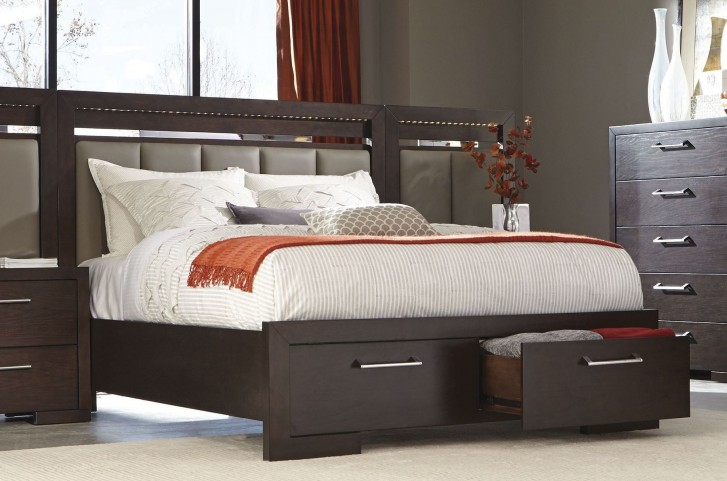 Berkshire Bitter Chocolate King Storage Bed