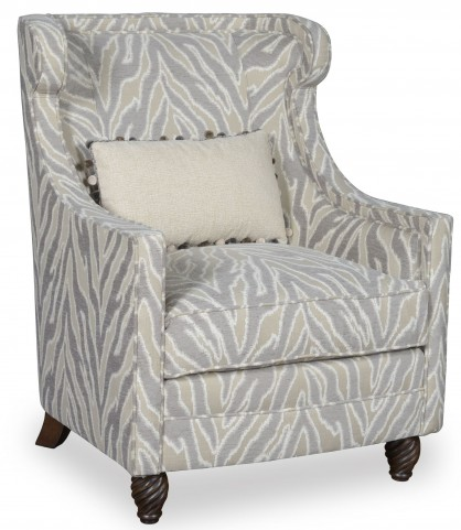 Cotswold Rustic Pine Amanda Ivory Accent Chair