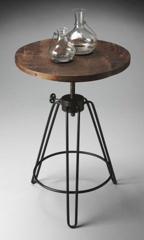2046025 Industrial Chic Metalworks Accent Table