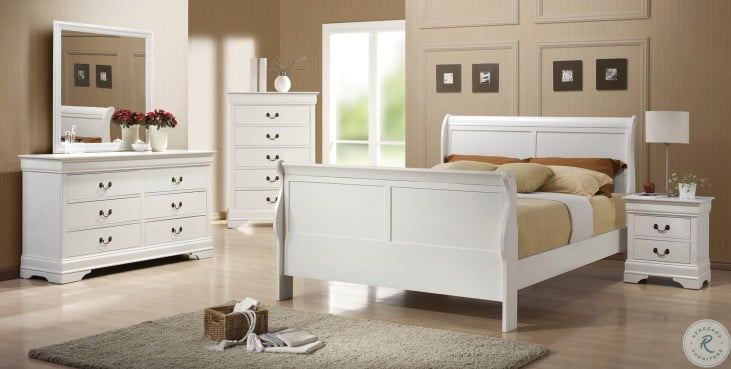 Louis Philippe White Youth Bedroom Set