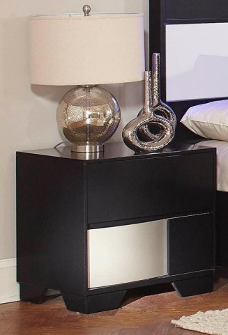 Havering Black and Sterling Nightstand