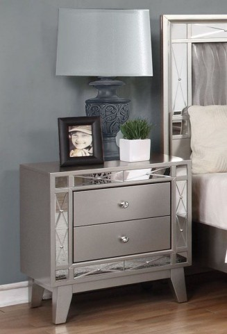 Leighton Metallic Mercury Nightstand