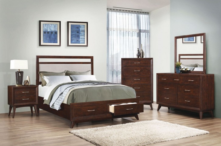 Carrington Coffee Platform Storage Bedroom Set