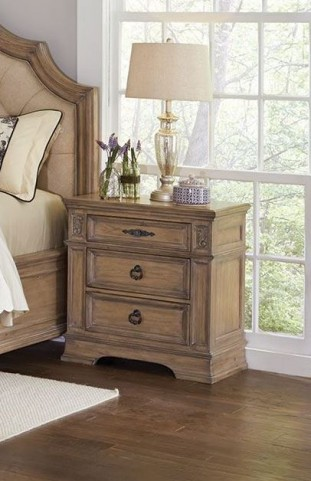 Ilana Antique Linen Nightstand