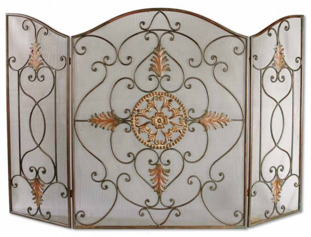 Egan Wrought Iron Fireplace Screen