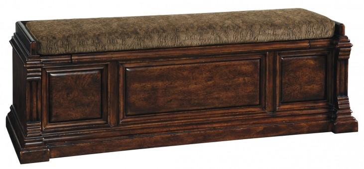 Whiskey Barrel Oak Bench