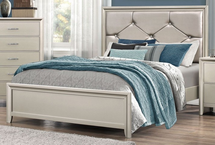 Lana Silver King Panel Bed