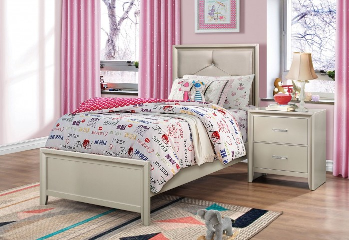 Lana Silver Youth Panel Bedroom Set