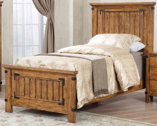 Brenner Rustic Honey Twin Panel Bed