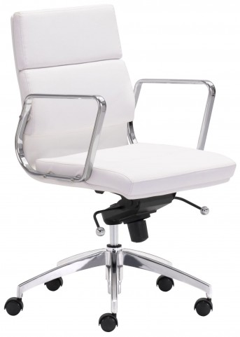 Engineer White Low Back Office Chair