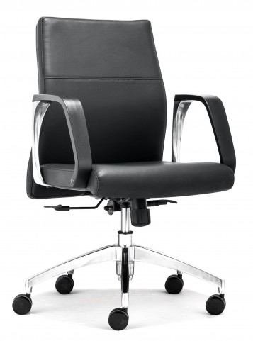 Conductor Black Low Back Office Chair