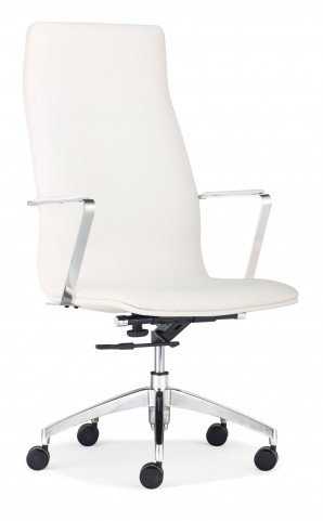Herald White High Back Office Chair