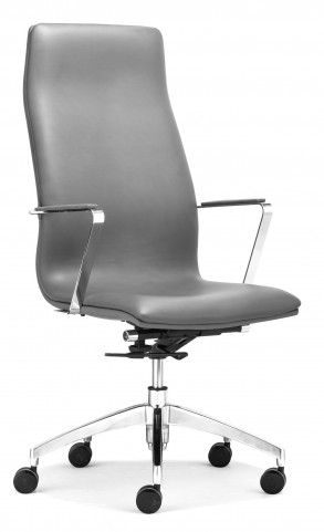 Herald Gray High Back Office Chair