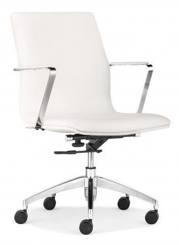 Herald White Low Back Office Chair