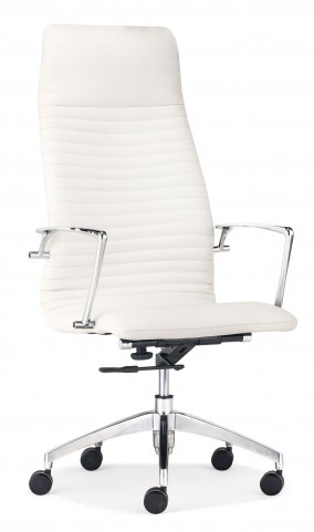 Lion White High Back Office Chair