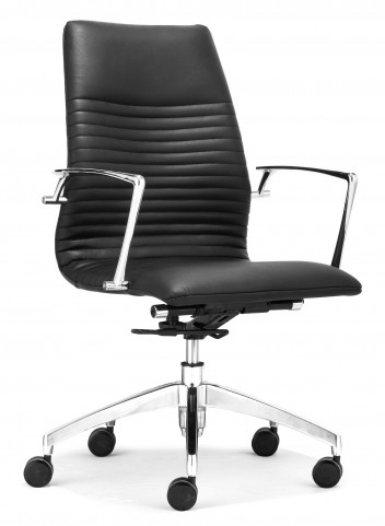 Lion Black Low Back Office Chair