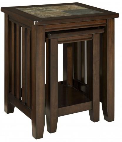 Napa Valley Brown Oak Nesting Table
