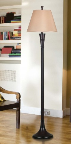 Rowley Mahogany Bronze Floor Lamp