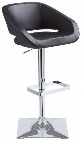 Gustavo Black Adjustable Barstool