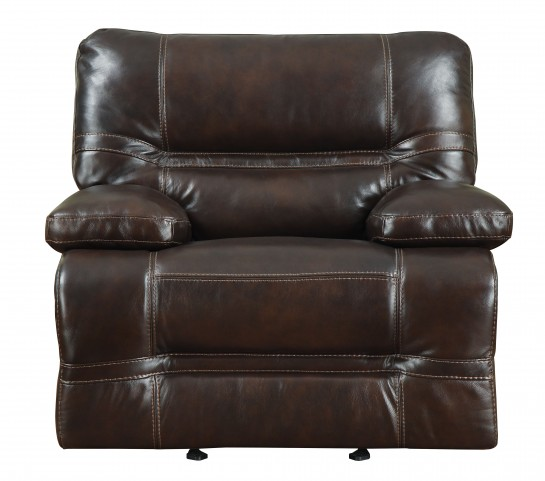 Overland Chocolate Leather Power Recliner