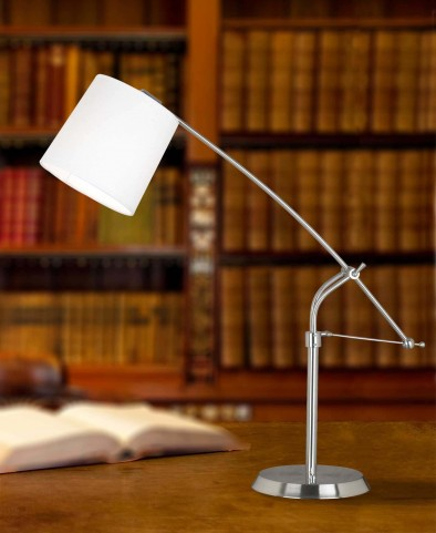 Reeler Brushed Steel Table Lamp