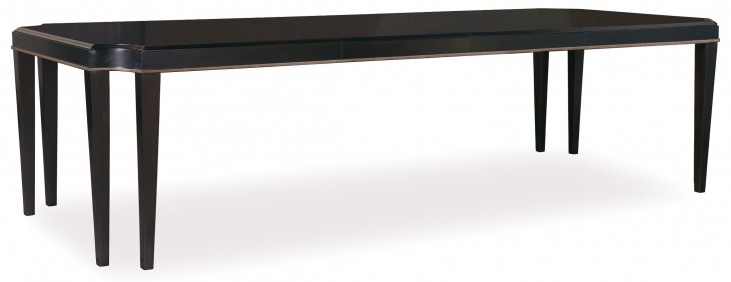 Cosmopolitan Ebony Leg Extendible Dining Table
