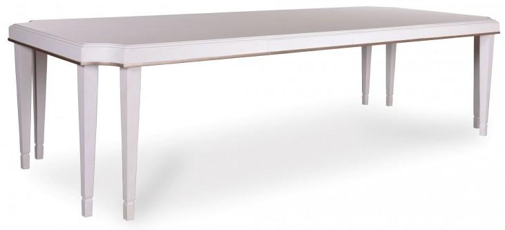 Cosmopolitan Parchment Leg Extendible Dining Table