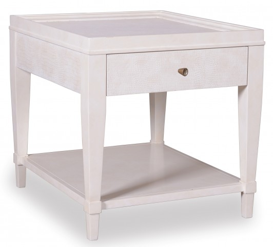 Cosmopolitan Parchment 1 Drawer End Table