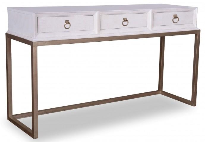 Cosmopolitan Parchment Console Table