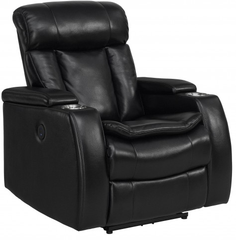 Galaxy Black Power Recliner