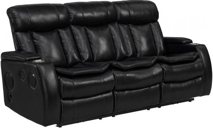 Galaxy Black Power Reclining Sofa