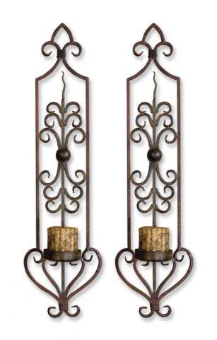 Privas Metal Wall Sconces, Set of 2