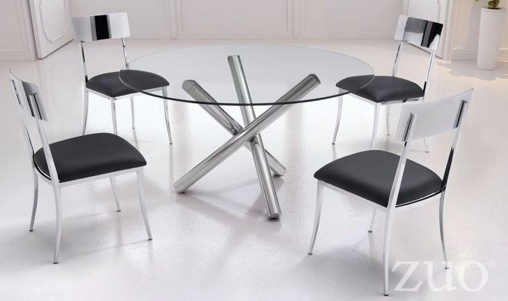 Stant Chrome Round Round Dining Room Set