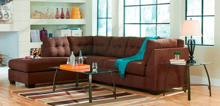 Maier Walnut LAF Sectional