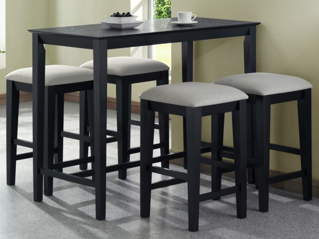 1919 Black Grain Counter Height Dining Room Set