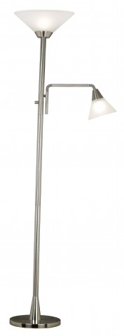 Rush Brushed Steel Torchiere