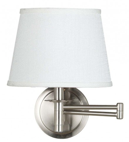 Sheppard Brushed Steel Wall Swing Arm Lamp