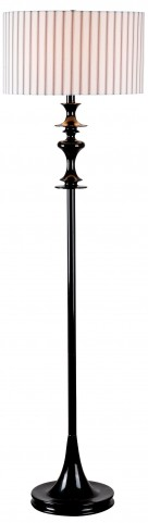 Claiborne Black Gloss Floor Lamp