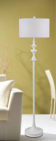 Claiborne White Gloss Floor Lamp